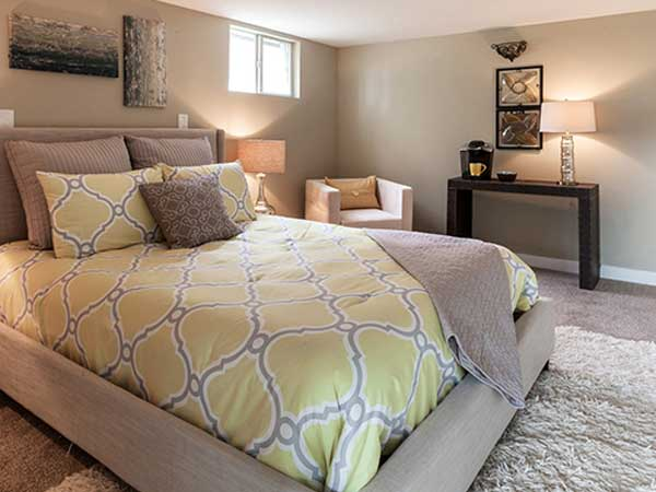 Basement bedroom remodeling in Connecticut